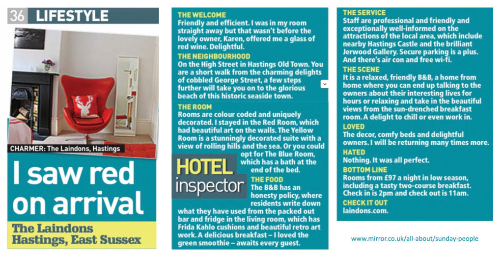 The Sunday People - Lifestyle Article - Feb 2019